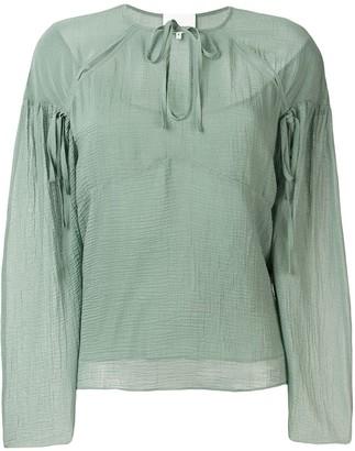 3.1 Phillip Lim Cutout textured silk blouse
