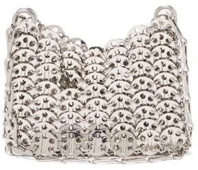 Paco Rabanne 1969 Nano Small Chain Shoulder Bag - Silver