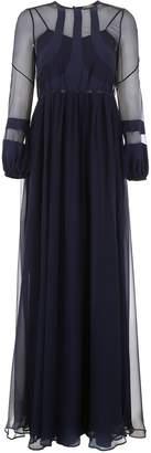 N°21 N.21 Long Silk Chiffon Dress