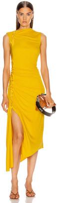 Sies Marjan Fontana Side Ruched Dress in Corn | FWRD