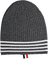 Thom Browne MEN'S STRIPED CASHMERE BEANIE