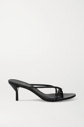 3.1 Phillip Lim Kiddie Crystal-embellished Leather Sandals - Black