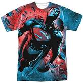 Superman Red Sun Sublimated Adult T-Shirt
