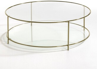 Am.pm. Sybil Tempered Glass Round Coffee Table