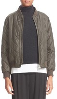 Vince Quilted Bomber Jacket