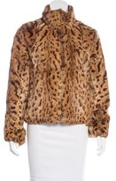 Tory Burch Leopard Print Fur Jacket w/ Tags