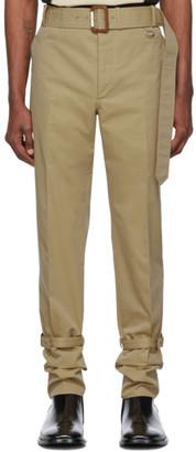 Alexander McQueen Beige Trench Detail Trousers