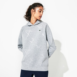 Lacoste Women's SPORT Printed Fleece Tennis Sweatshirt
