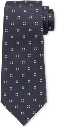 Ermenegildo Zegna Men's Micro-Squares Silk Tie