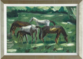 "Horchow ""Grazing Ponies"" Giclee"