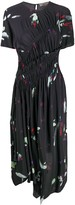 Preen Line brush stroke pleated midi dress