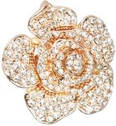 Love Rocks Crystal & Rosegoldtone Rose Ring