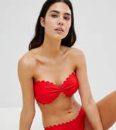 South Beach Scallop Edge Mix & Match Bandeau Bikini Top