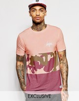 Hype T-shirt With Camo Panel