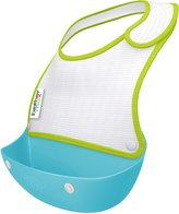 BabyCentre Brother Max Catch and Fold Bibs - Blue/Green