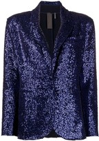 Norma Kamali sequin-embellished single breasted blazer