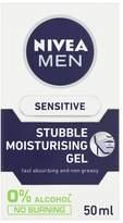 Nivea Men Sensitive Stubble Moisturiserising Gel 50ml