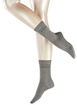 Esprit Women Uni 2-Pack Socks - 80% Cotton, ( 2000), (Manufacturer size: 39-42), Pack of 2