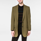 Paul Smith Women's Olive Green Merino Wool Blazer