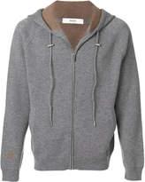 Bally knitted zip hoodie