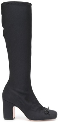RED Valentino Square Toe 80mm Knee-Length Boots