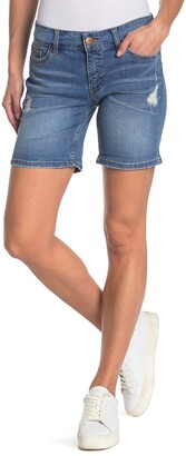 SUPPLIES BY UNION BAY Marni Distressed Rolled Denim Shorts