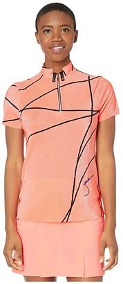 Jamie Sadock Crunchy Short Sleeve Top (Doll Face) Women's Clothing