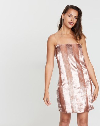 Miss Selfridge Velvet Stripe Cami Dress