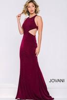 Jovani Long Sleeveless Cutout Dress 39798