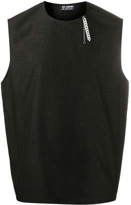 Raf Simons Zip-Front Sleeveless Shirt