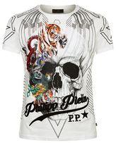 Philipp Plein Animal Print Skull T-shirt