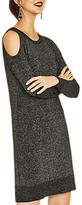 Oasis Cold Shoulder Knit Dress, Black/Multi