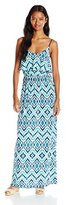 Trixxi Juniors Printed Popover Maxi Dress