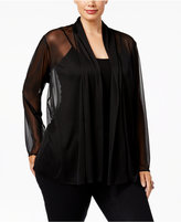 MSK Plus Size Mesh Jacket