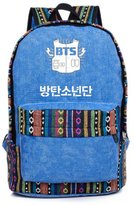 YKC Kpop BTS Bangtan Boys Sports Bags Canvas Fan Backpack