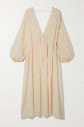 CLOE CASSANDRO + Net Sustain Gabriella Organic Cotton-gauze Midi Dress - Cream