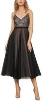 BCBGMAXAZRIA Lace & Tulle A-Line Dress