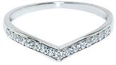 Diamonere Cubic Zirconia & Sterling Silver Pavé Tiara Ring