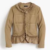 J.Crew Ruffle chino jacket
