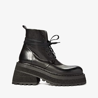 Marsèll Tech Sole Combat Boot (Black) Women's Shoes