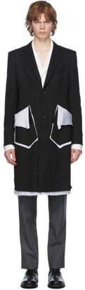 Sulvam Black Gabardine Classic Jacket