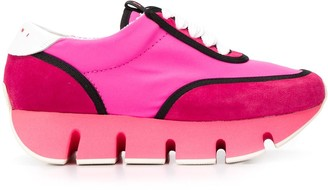 Marni panelled platform sneakers