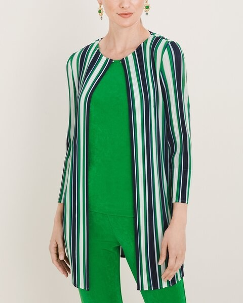 Travelers Collection Pleated Open Jacket