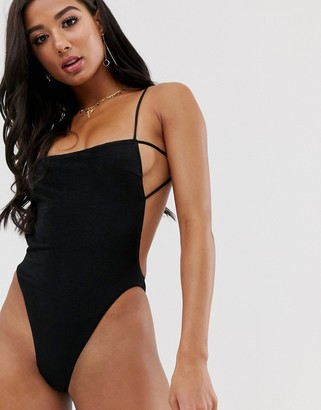 Twiin Bound backless swimsuit in black
