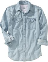 Old Navy Men's Denim Western Shirts