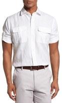 Peter Millar Men's Harkers Herringbone Regular Fit Sport Shirt