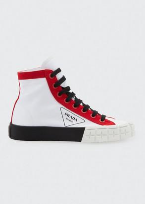 Prada High-Top Logo Chunky Sneakers