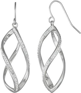 Chrystina Crystal Dangle Cage Earring