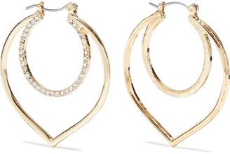Kenneth Jay Lane 18-karat Gold-plated Crystal Earrings