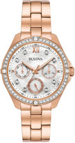 Bulova Women's Rose Gold-Tone Stainless Steel Bracelet Watch 35mm 98N108, A Macy's Exclusive Style